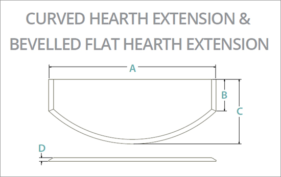 Hearth Extensions Curved