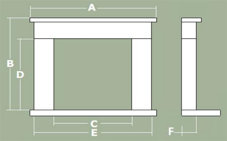 Ascoli Fireplace Dimensions