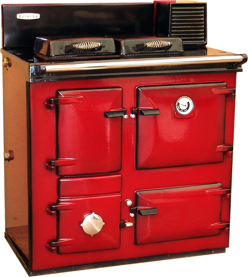 Reconditioned Rayburn MF in Claret Shaded enamel from H&F