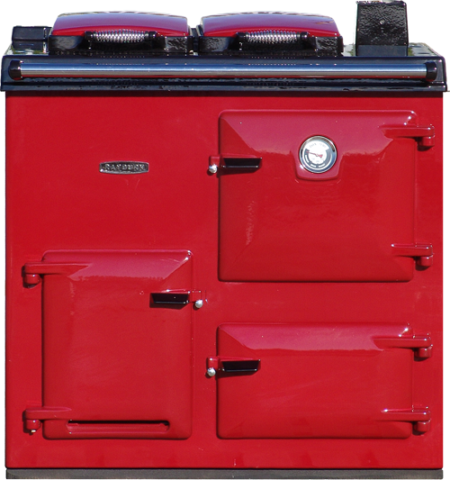 Reconditioned Rayburn OF7 Right Hand Flue in claret enamel