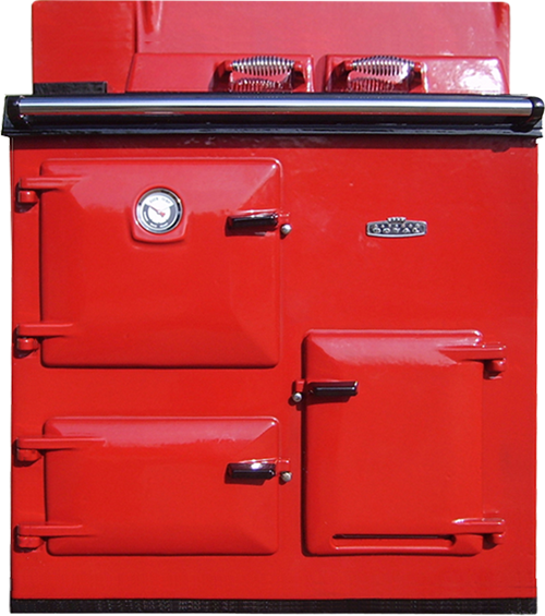 Reconditioned Rayburn OF7 Left Hand Flue in Red enamel from H&F
