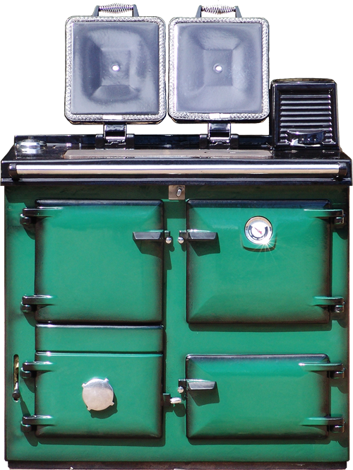 Reconditioned Rayburn 355 in Green Shaded enamel from H&F