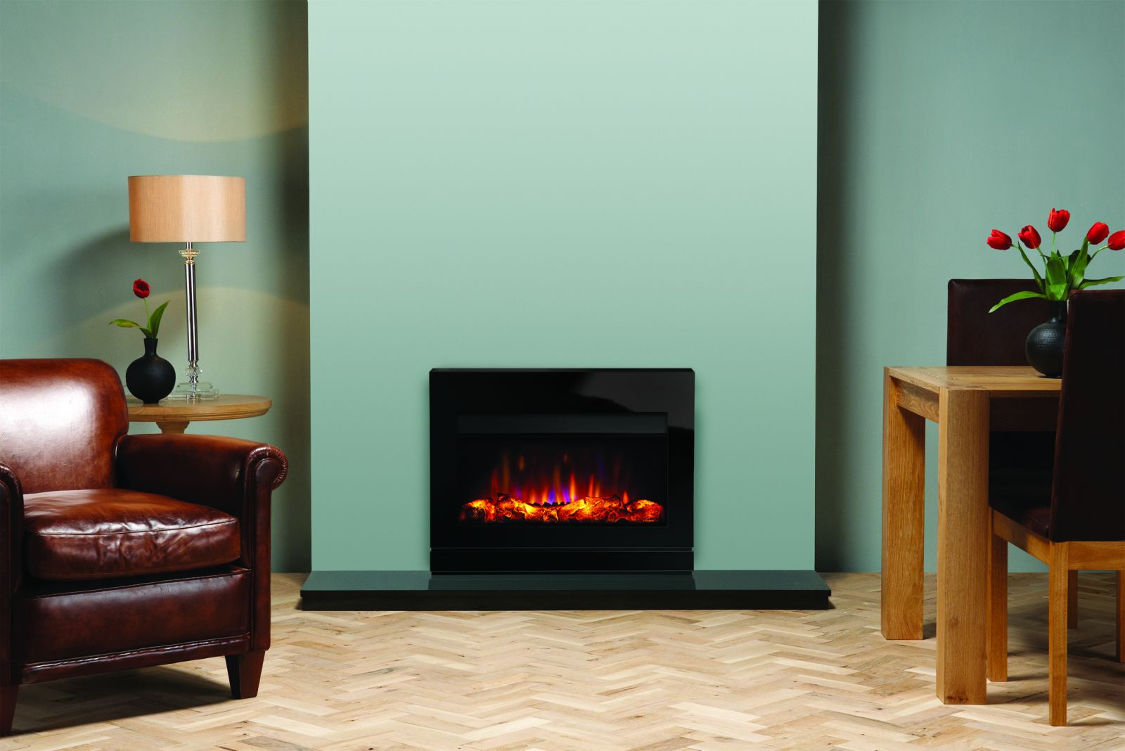Riva2 670 Electric Designio2 Glass (hearth-mounted)