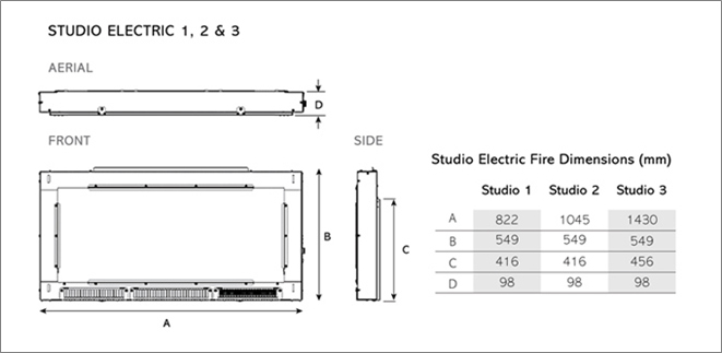 Studio Electric Verve Dimensions