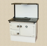 Stanley 8 in White Enamel with Optional Plate Rack