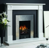 Belgravia Cast Front with polished insert and Georgian Mantel