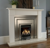 Belgravia front with polished insert and Brompton Mantel