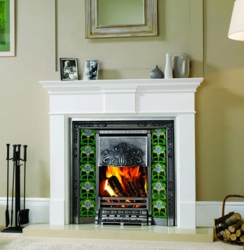 Pembroke Wood Mantel Lacquered White